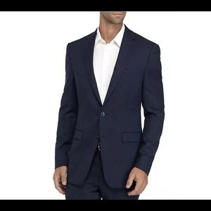 Calvin Klein Navy Blue Slim Fit Wool Coat  44L